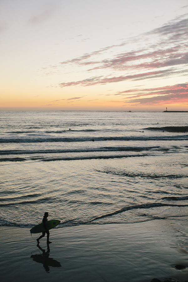Sunset & Surfers, as part of a Local's City Guide to Half Moon Bay // WeAreAdventure.us