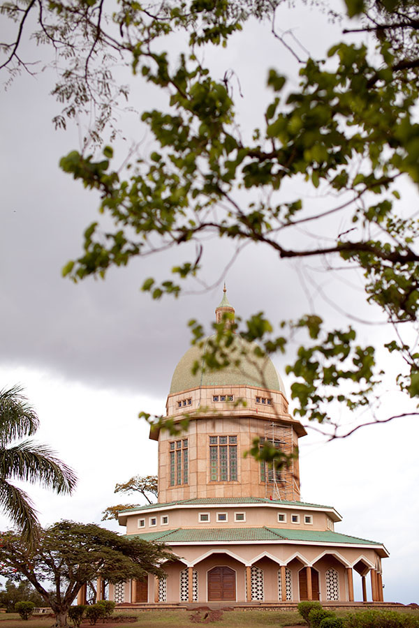The Baha'i Temple on a hill in Kampala, Uganda // WeAreAdventure.us
