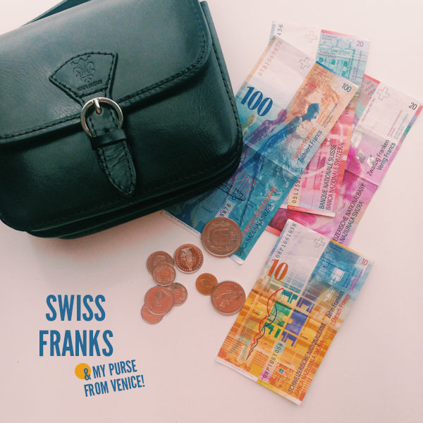 Swiss Franks and a Leather Purse from Venice, Italy // WeAreAdventure.us