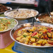 Market visit to the local food market in Chaing Mai, Thailand. During a local's cooking class! Yum! // WeAreAdventure.us