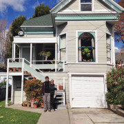 Our first apartment together in the little Victorian in Berkeley, California // WeAreAdventure.us