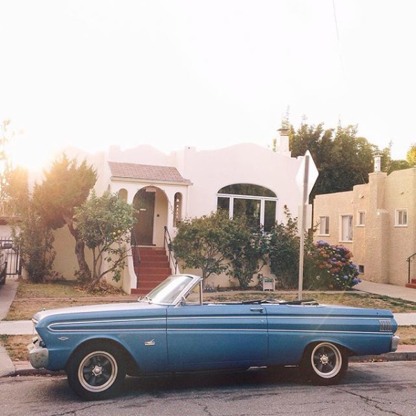 A blue vintage car that I saw on a walk and, update!, Instagram made me a suggested user! // WeAreAdventure.us